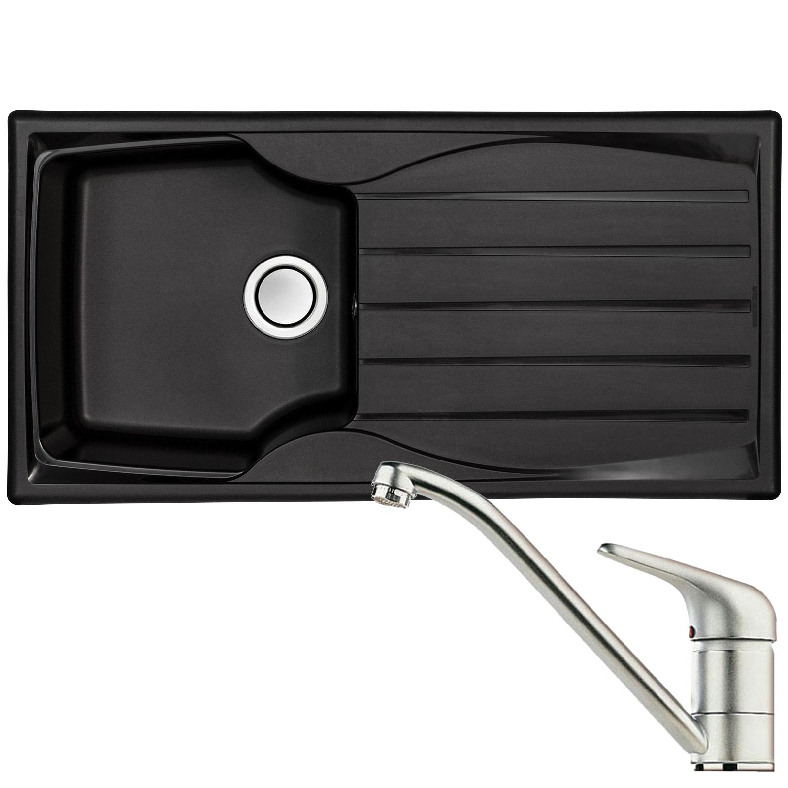 Astracast sierra 1 0 bowl black kitchen sink clearwater creta chrome mixer tap at ship it appliances