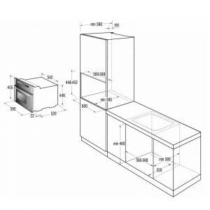 Gorenje BOC5322AX 60cm 32L Built In Digital Combination Microwave, Oven & Grill