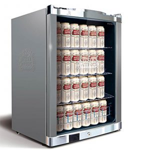 Husky HUS-HY214 Stella Artois Lockable A+ Rated Undercounter Drinks Fridge 115L