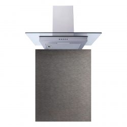 SIA 60cm Stainless Steel Flat Glass Cooker Hood Fan & Toughened Glass Splashback
