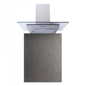 SIA 60cm Stainless Steel Flat Glass Cooker Hood Fan & Toughened Glass Splashback
