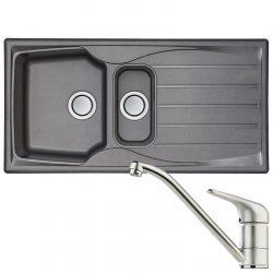 Astracast Sierra 1.5 Bowl Graphite Grey Kitchen Sink And Clearwater Creta Tap