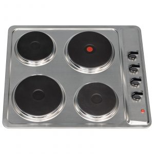 SIA PHP601SS 60cm Stainless Steel Solid Plate 4 Zone Electric Easy Clean Hob