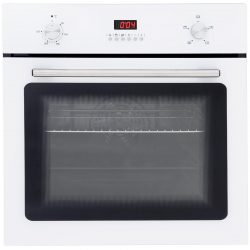 SIA SO102WH 60cm White Built In Single Electric True Fan Oven With Digital Timer