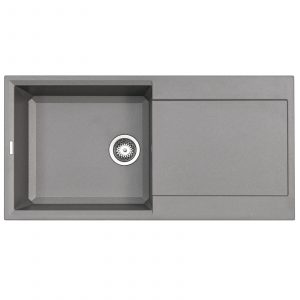 Reginox Easy 480 1.0 Bowl Grey Granite Italian Designer Reversible Kitchen Sink