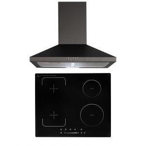 SIA 60cm 4 Zone Flexi-Bridge Induction Hob And Chimney Cooker Hood Kitchen Fan