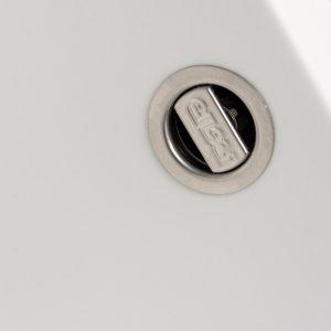 Reginox Easy 325 White Granite Italian Designer 1.5 Bowl Reversible Kitchen Sink