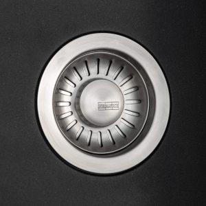 Franke Aveta 1.5 Bowl Black Tectonite Reversible Kitchen Sink & Basket Waste Kit