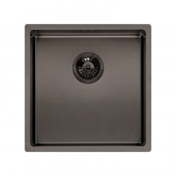 Reginox Miami 40x40cm Grey Single Bowl Stainless Steel Undermount Kitchen Sink