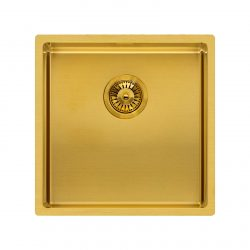 Reginox Miami 40x40cm Gold Single Bowl Stainless Steel Undermount Kitchen Sink