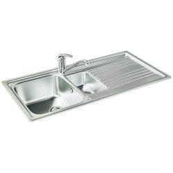 Carron Phoenix Rapid 150 Stainless Steel 1.5 Bowl Reversible Inset Kitchen Sink