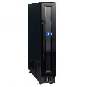 SIA BWC150BL 150mm / 15cm Black Under Counter LED 6 Bottle Wine Cooler Chiller