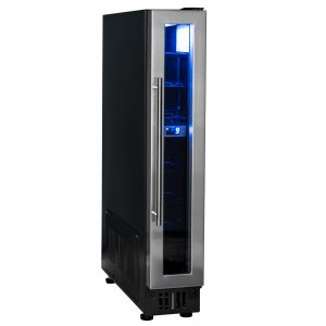 SIA BWC150BL 150mm / 15cm Stainless Steel Under Counter Wine Cooler Chiller