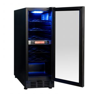 SIA BWC300SS 300mm / 30cm Stainless Steel Under Counter Wine Cooler Chiller