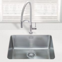 SIA 1.0 Bowl Undermount Stainless Steel Kitchen Sink With Waste Kit W530xD450mm