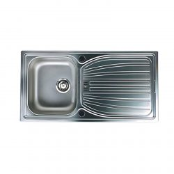 Astracast AO10XB Alto 1.0 Bowl Stainless Steel Reversible Kitchen Sink And Waste