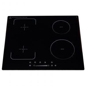 SIA INDH62BL 60cm Black 4 Zone Flexi-Bridge Touch Control Electric Induction Hob