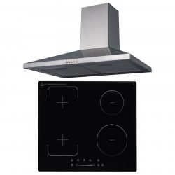 SIA 60cm 4 Zone Flexi-Bridge Induction Hob & Stainless Steel Chimney Cooker Hood