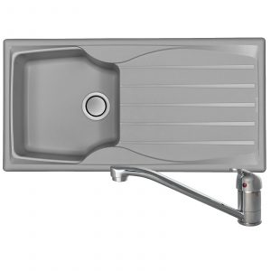 Astracast Sierra 1 Bowl Light Grey Composite Kitchen Sink And CDA TC10 Mixer Tap
