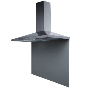 SIA CHL90SS 90cm Stainless Steel Chimney Hood Fan And Toughened Glass Splashback