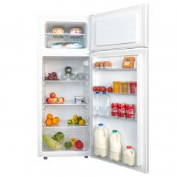 SIA FF144WH 55cm 80/20 Freestanding White Fridge Freezer A+ Rated, W54 x H140cm