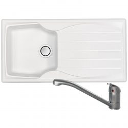 Astracast Sierra 1.0 Bowl Arctic White Kitchen Sink And Clearwater Mixer Tap