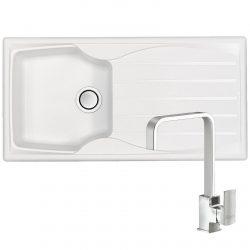 Astracast Sierra 1.0 Bowl Arctic White Kitchen Sink And Reginox Mixer Tap