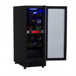 Unbranded 30cm / 300mm Stainless Steel Under Counter LED Wine Cooler Chiller