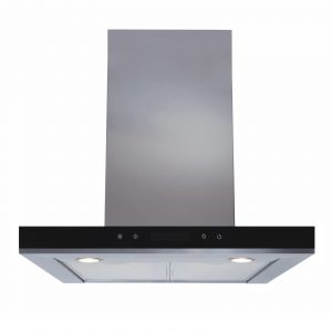 SIA 60cm Stainless Steel Linear Touch Control Cooker Hood And Glass Splashback