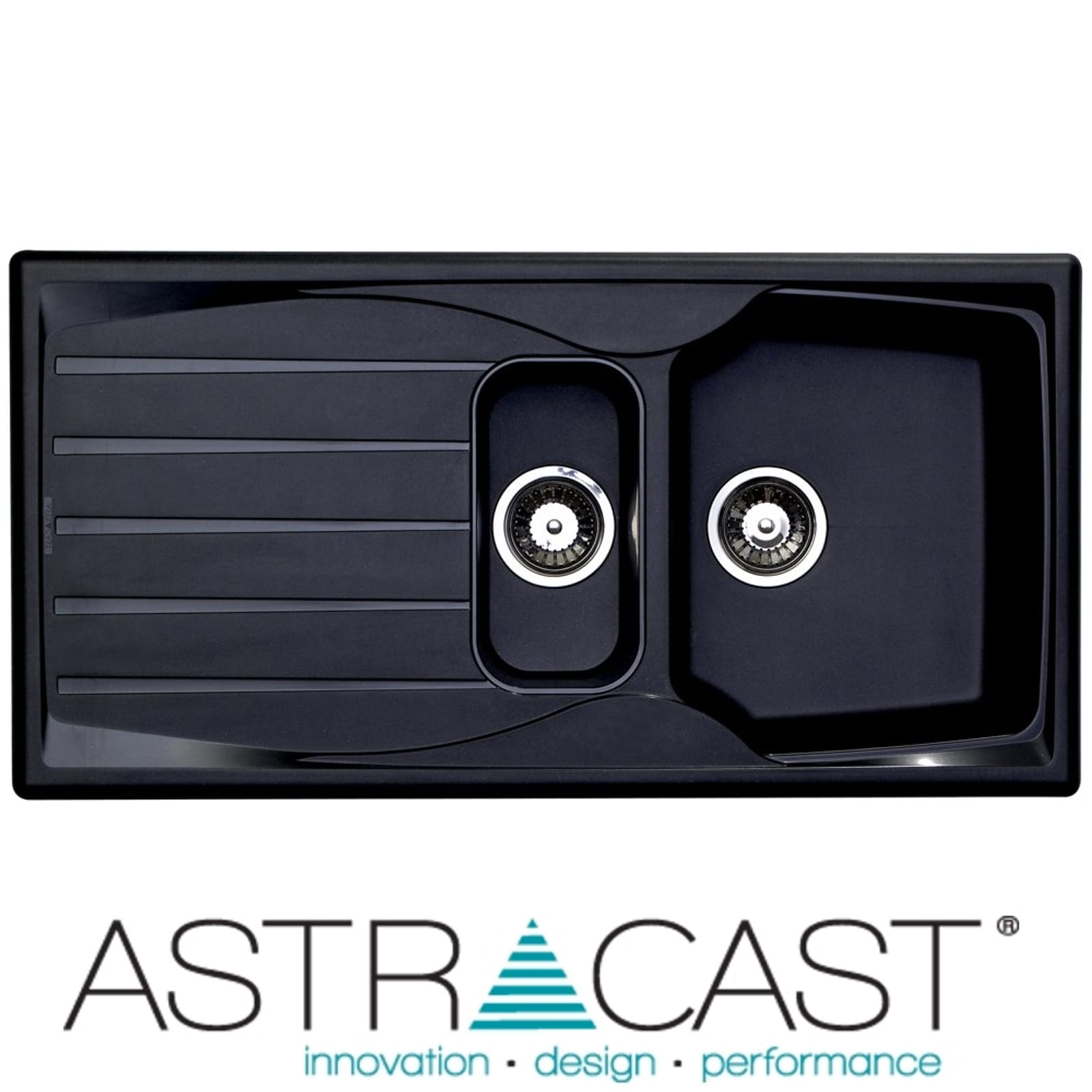 Details about astracast sierra 1 5 bowl teflite reversible black kitchen sink and waste kit