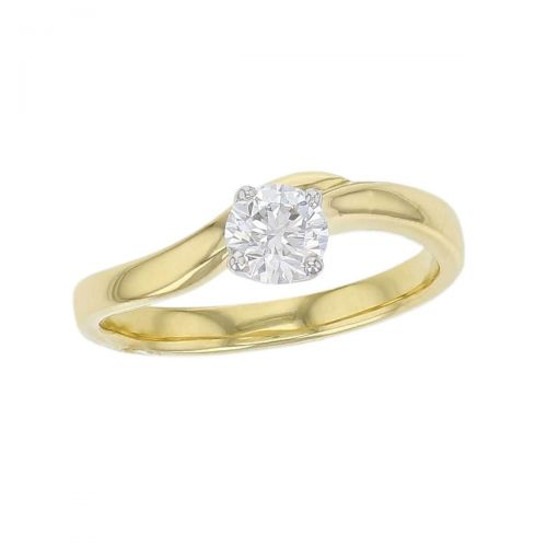 round cut solitaire diamond engagement ring, platinum, 18ct yellow gold, designer, handmade by Faller, hand crafted, betrothal, promise, precious jewellery, jewelry, GIA certified, bridal set, hand crafted, duet rings,