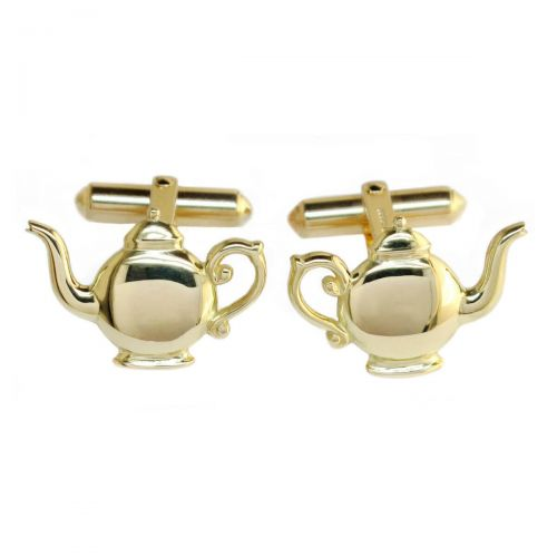 Faller Golden Teapot, Heritage, historical, 18ct yellow gold, cufflinks, Derry landmark