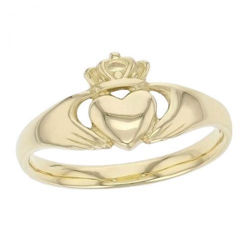 Faller Claddagh, 18ct yellow gold, Irish, love, loyalty & friendship, hands, heart & crown, dress ring, ladies