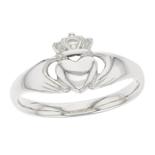 Faller Claddagh, sterling silver, Irish, love, loyalty & friendship, hands, heart & crown, dress ring, gents
