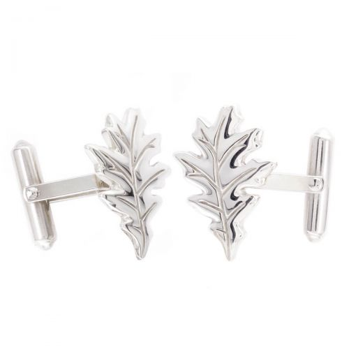 Faller Oakleaf, Derry, Londonderry, Northern Ireland, oak wood, acorn, angel, leaf, St Columba, St. Comcille, christian, heritage, historical, sterling silver cufflinks