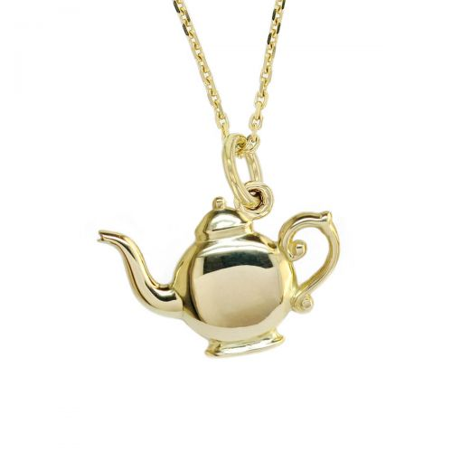 Faller Golden Teapot, Heritage, historical, 18ct yellow gold, pendant, Derry landmark