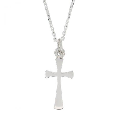 Faller sterling silver plain flared angel cross pendant, christian symbol