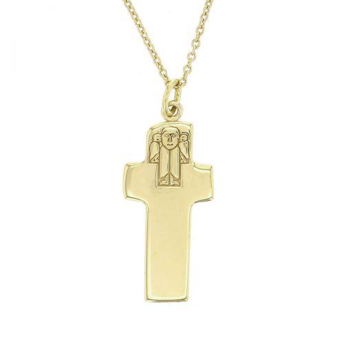 celtic cross, Carrowmore, Donegal, 18ct yellow gold, Irish high cross, Inishowen, angel, celtic, ancient, monastery, pendant, heritage, historical, Christian, men's, ladies, Faller