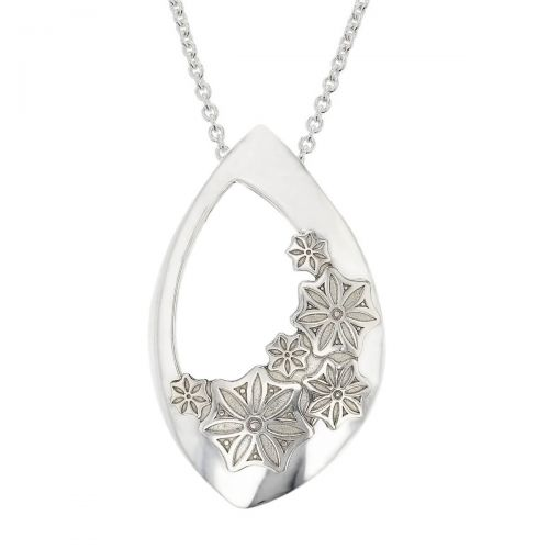 Faller Marigold Floral , pillar stone, Carndonagh, Inishowen, Co. Donegal, celtic, ancient, monastery, St, Patrick, ladies, heritage, historical, intricate carving, Christian pilgrimage, medieval, St. Columba, pendant, sterling silver