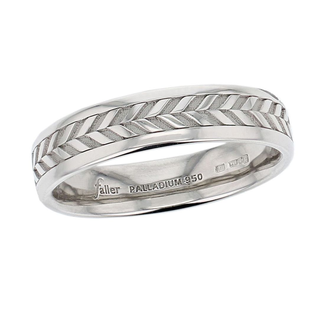 continuous plait wedding ring pattern, men's, gents
