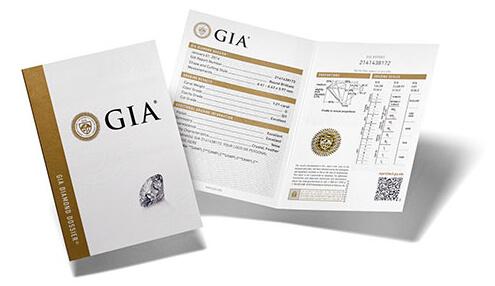 Sample G.I.A diamond dossier