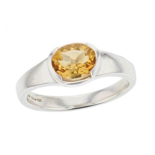 sterling silver yellow oval cut citrine gemstone dress ring, designer jewellery, quartz gem, jewelry, handmade by Faller, Londonderry, Northern Ireland, Irish hand crafted, darcy, D'arcy
