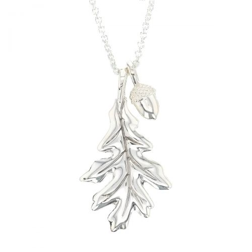 Faller Oakleaf, Derry, Londonderry, Northern Ireland, oak wood, acorn, angel, leaf, St Columba, St. Comcille, christian, heritage, historical, sterling silver pendant