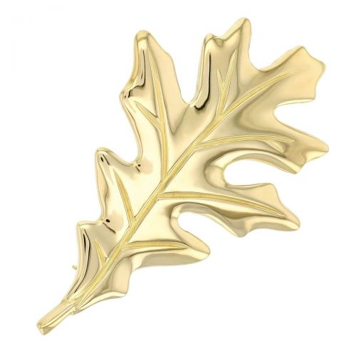 Faller Oakleaf, Derry, Londonderry, Northern Ireland, oak wood, acorn, angel, leaf, St Columba, St. Comcille, christian, heritage, historical, 18ct yellow gold brooch