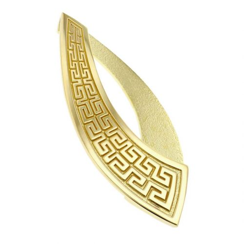 Faller Marigold Maze , pillar stone, Carndonagh, Inishowen, Co. Donegal, Greek key pattern, celtic, ancient, monastery, St, Patrick, ladies, heritage, historical, intricate carving, Christian pilgrimage, medieval, St. Columba, brooch, 18ct yellow gold