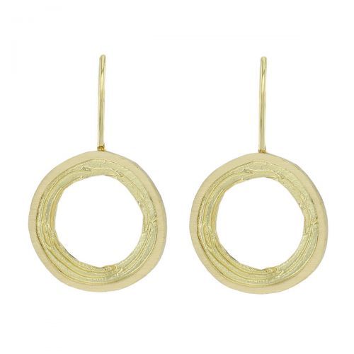 Faller Grianán of Aileach, Grianan, Greenan Fort, Inishowen Co.Donegal, Ireland, Irish folklore, ringfort, historical, St. Patrick, ancient, historical, irish, 18ct yellow gold, drop earrings
