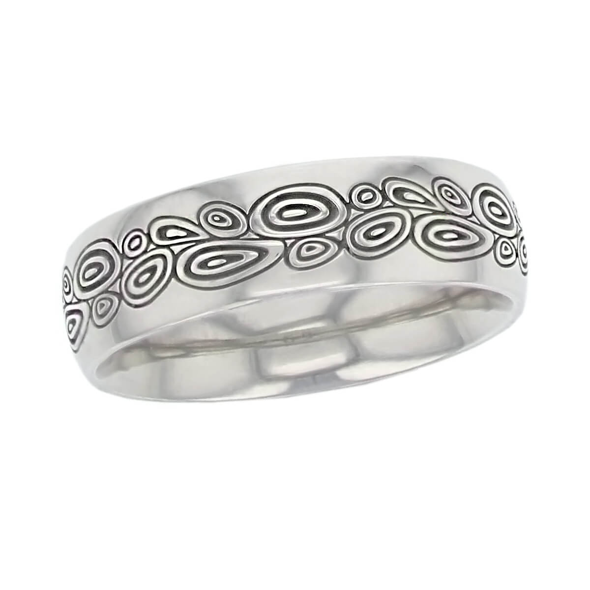 puddle pattern palladium mens wedding rin, gents dress ring, made by Faller