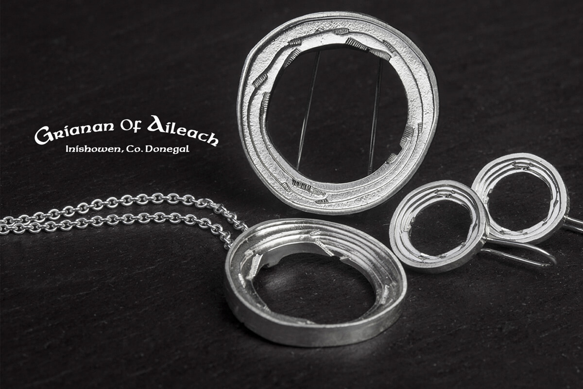 Faller Grianán of Aileach, Grianan, Greenan Fort, Inishowen, Co.Donegal, Ireland, Irish folklore, ring fort, historical, St. Patrick, ancient, historical, Irish, Faller jewellery collection