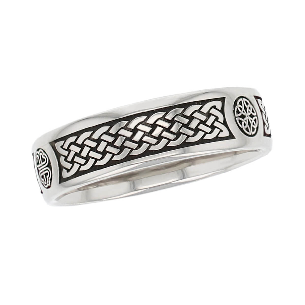 bodan cross pattern wedding ring, men's, gents, Irish, celtic plait, interlace, weave, , St. Boden, made by Faller