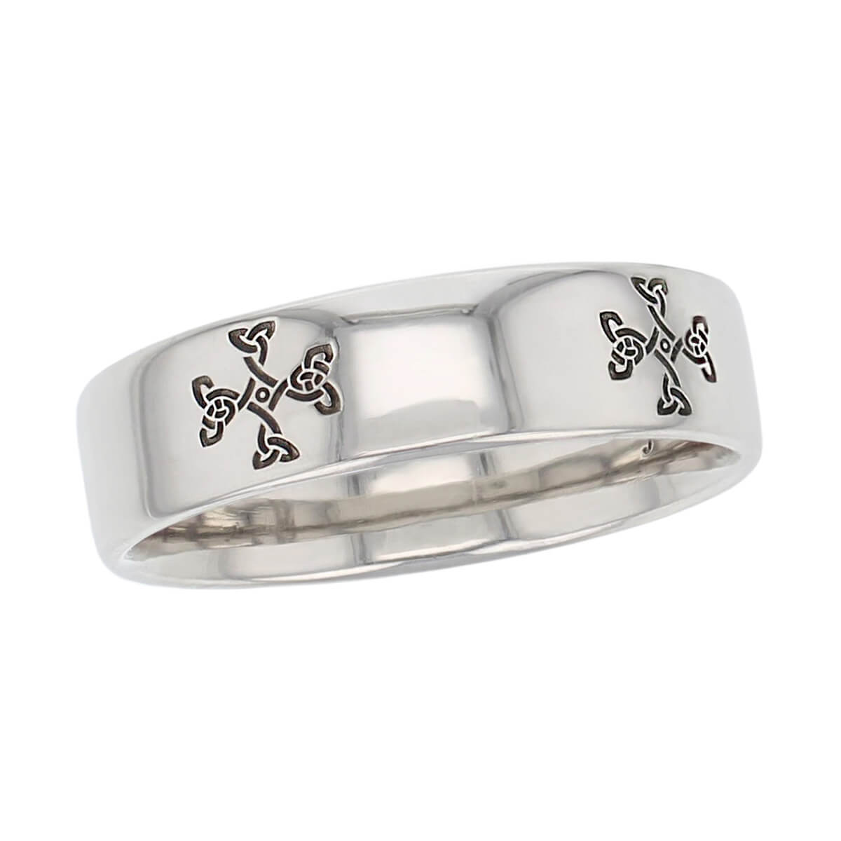 mura cross wedding ring pattern, men's, gents, Irish, celtic knot pattern, St. Mura, Fahan.